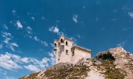 Tour médiévale antique de château à Tarifa, Andalousie Photos libres de droits