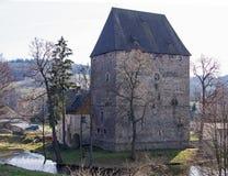 Tour médiévale, Siedlecin, Pologne Photo stock