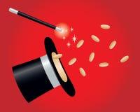 Tour magique avec des pièces d'or Photo libre de droits