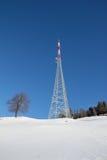 Tour Mitterberg de radiodiffusion de paysage d'hiver Images libres de droits