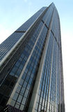 Tour montparnasse. A blue skyscrabber in montparnasse in paris stock photo