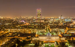 Tour Montparnasse and Ecole Militaire Royalty Free Stock Photos
