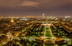 Tour Montparnasse and Ecole Militaire as seen from Eiffel Tower. Royalty Free Stock Photo