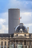 Tour Montparnasse and Les Invalides, Paris Stock Image