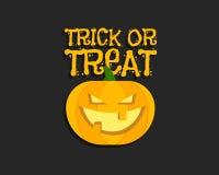 Tour ou festin Affiche de Halloween avec la main illustration de vecteur