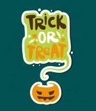 Tour ou festin Illustration lumineuse de vecteur pour Halloween heureux Potiron vacances illustration libre de droits