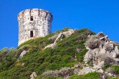 Tour Parata. Ancient Genoese tower on Corsica. Tour Parata. Ancient Genoese tower on Sanguinaires peninsula near Ajaccio, Corsica island, France Royalty Free Stock Photo