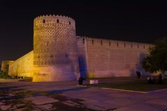 Tour penchée d'Arg de Karim Khan, Chiraz, Iran Photographie stock