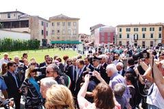 Tour penchée d'inauguration Image libre de droits