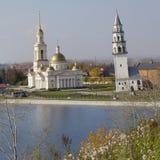 Tour penchée de Nevyansk Image libre de droits