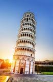 Tour penchée de Pise, Italie Images libres de droits