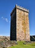 Tour principale de château de Melgaco Image libre de droits