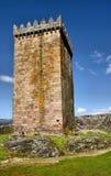 Tour principale de château de Melgaco Photographie stock libre de droits