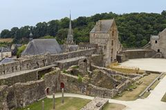 Tour Raoul, Castle of Fougeres. Magnificent Fougeres castle is one of the finest fortresses in Europe Stock Photo
