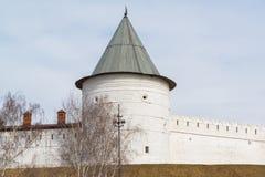Tour ronde du sud-ouest de Kazan Kremlin République du Tatarstan, Russie Image stock