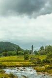 Tour ronde, Glendalough, comté Wicklow, Irlande Photo libre de droits