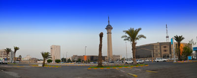 Tour saoudienne de TV dans Jeddah Photo stock