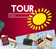Tour Search Holiday Destination Concept Royalty Free Stock Photos