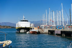 Tour ships docked. In harbor,Fethiye Turkey Stock Photography