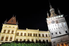 Tour-Sighisoara d'horloge, Roumanie Image stock