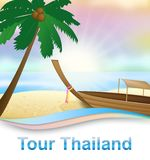Tour Thailand Shows Thai Travelling 3d Illustration vector illustration
