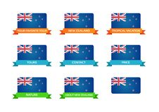Tour to New Zealand Stock Image