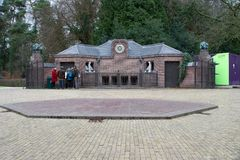Tour to service building of St. Hubert Hunting Lodge, Netherlands Stock Photo
