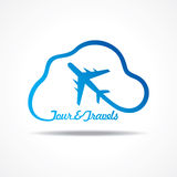 Tour and Tourism icon with cloud Stock Images