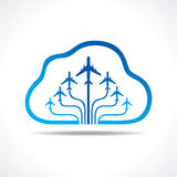 Tour and Tourism icon with cloud Royalty Free Stock Photos
