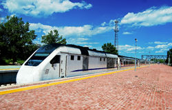 Tour Train for Badaling Great Wall Stock Photo
