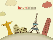 Tour and Travel background with monument. Stock Images