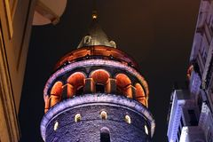 Tour Turquie de Galata Images stock