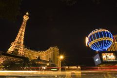 tour vegas de reproduction de las d'Eiffel Photos stock