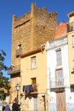 tour, village de Benassal, Els Ports ; Province de Castellon ; L'Espagne ; photos stock