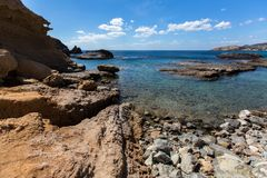 Touraille de ¡ de Ð d'île de Milos, mer Égée, Grèce nature images libres de droits