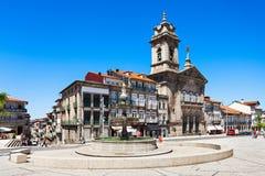 Toural-Quadrat, Guimaraes lizenzfreies stockbild
