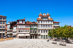 Toural Square, Guimaraes. Toural Square (Largo do Toural) is one of the most central and important squares in Guimaraes, Portugal royalty free stock photos