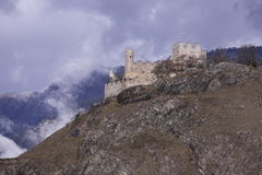 Tourbillon castle in Sion Royalty Free Stock Images