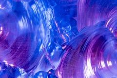 Tourbillon de couleurs bleues et pourpres Image libre de droits
