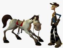 Tourbillonnent et le shérif illustration libre de droits