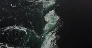 Tourbillons de mer de Saltstraumen banque de vidéos