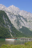 Tourboat in Konigssee in Berchtesgadener Royalty Free Stock Photography