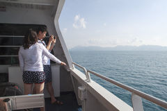 On tourboat to islands Royalty Free Stock Photos