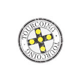 Tourcoing city stamp Stock Images