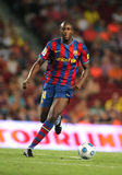 Toure Yaya. Futbol Club Barcelona player Toure Yaya during Spanish Supercup match between Barcelona vs Athletic Bilbao at the New Camp Stadium in Barcelona on Royalty Free Stock Photo