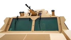 Tourelle avec des armes à feu de vehicule blindé de combat Photo stock