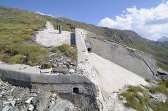 Tourelle blindée, centre 12 d'incendie - Vallo Alpino Images libres de droits