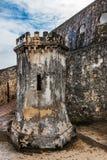 Tourelle d'arme à feu à l'intérieur de Castillo San Felipe del Morro Photographie stock libre de droits