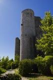 Tourelle de château, Bargeme, la variété, France Image libre de droits