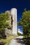 Tourelle de château, Bargeme, la variété, France Photo libre de droits
